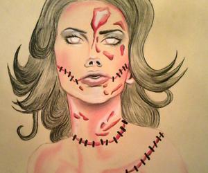 art, beautiful, and blood image