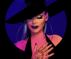draw, witch, and make-up image