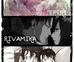 ereri, levihan, and rivamika image