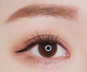 eyebrows, eyeliner, and eyes image