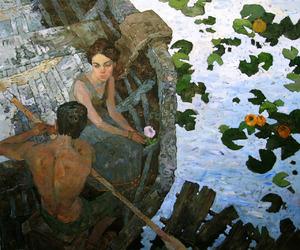 art, girl, and love image
