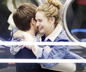 lily james and ansel elgort image
