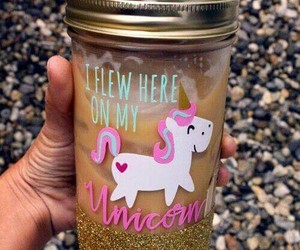 unicorn, drink, and pink image