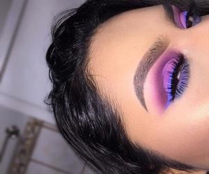 purple, eyes, and eyeshadow image