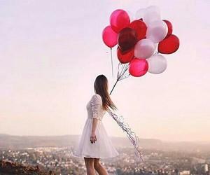 balloons and girl image