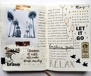 journal, art, and quotes image