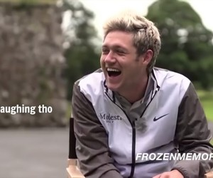 niall, niall horan, and niall laughing image
