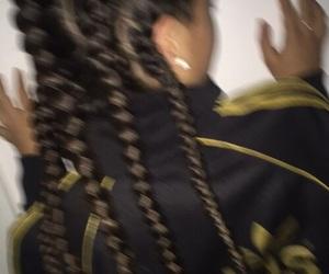 girl, braids, and adidas image