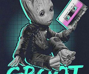 baby, Marvel, and groot image