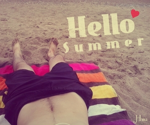 beach, summer, and vocation image