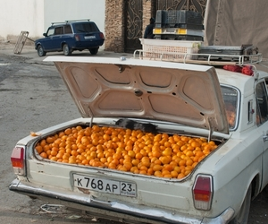 car, oranges, and summer image