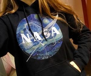 design, hoodie, and nasa image