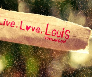 text, louis tomlinson, and love image