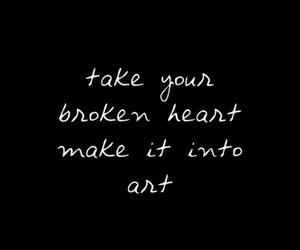 art, black, and broken image