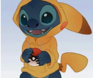 pikachu, pokemon, and stitch image