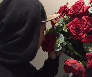 boy and roses image