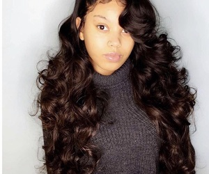 hair, long, and weave image