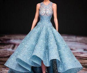 princess, blue, and dress image