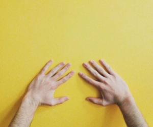 yellow, aesthetic, and hands image