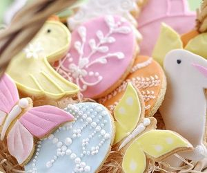 easter, Cookies, and eggs image