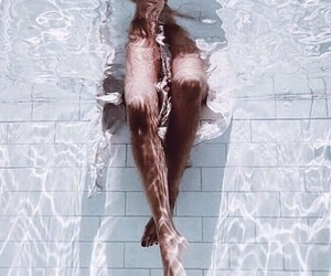 water, legs, and pool image