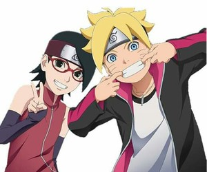 naruto, sarada, and boruto image