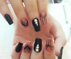 black, nails, and nice image