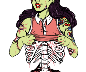 girl and zombie image