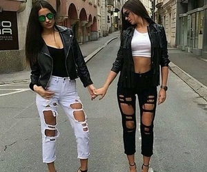 black and jeans image