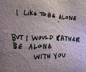 quotes, alone, and grunge image