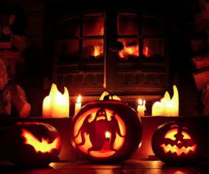 autumn, Halloween, and light image