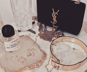 YSL, gold, and bag image