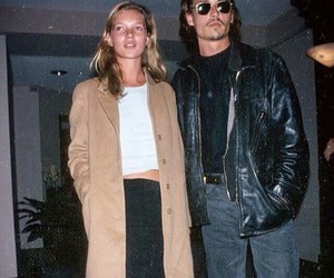 johnny depp, kate moss, and 1990s image