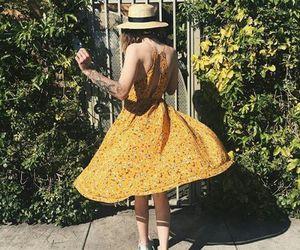 dress, yellow, and acacia brinley image