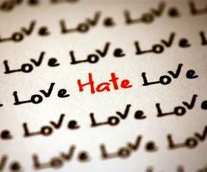 love, hate, and red image