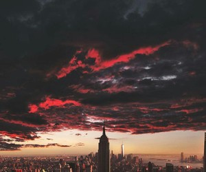 city, sky, and new york image