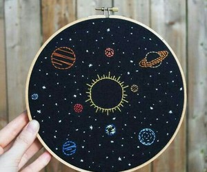 solar system and stars image