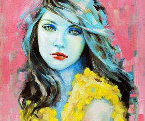 art, painting, and emma uber image