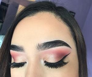 eyeshadow, mauve, and pink image