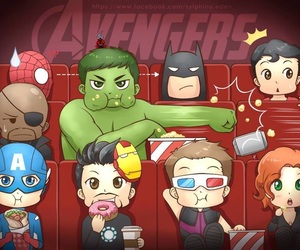Avengers, batman, and Marvel image