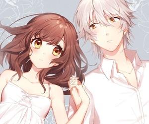 couple and anime image