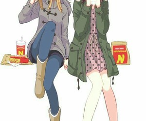 anime, best friends, and fashion image