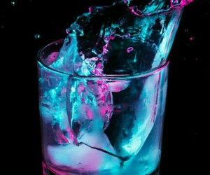 drink, blue, and water image