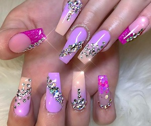 creative, extra, and acrylic nails image