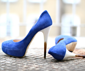 dark blue, fashion, and high heels image
