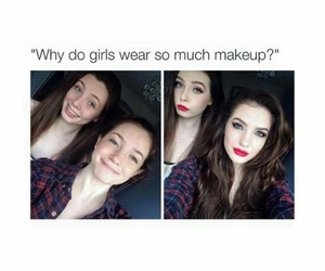 damn, girls, and makeup image
