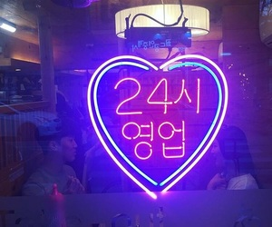 korea, neon lights, and neon signs image