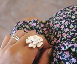 floral, ring, and rings image