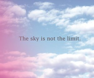 sky, limit, and quote image