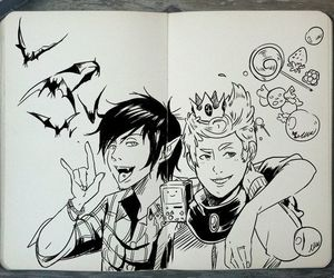 draw, adventure time, and marshall lee image
